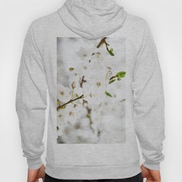 White blooming Hoody