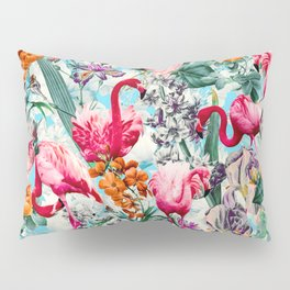 Floral and Flamingo VII pattern Pillow Sham