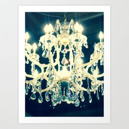 Filtered Chandelier Art Print