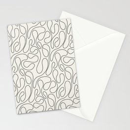 Black Lines Curves Stationery Cards