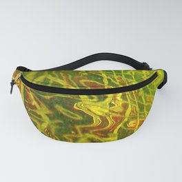 Green Red Water Abstract | Nadia Bonello Fanny Pack