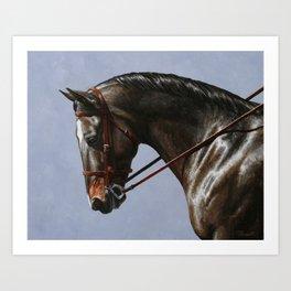Brown Dressage Horse Art Print