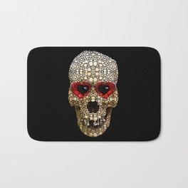 Skull Art - Day Of The Dead 3 Stone Rock'd Bath Mat
