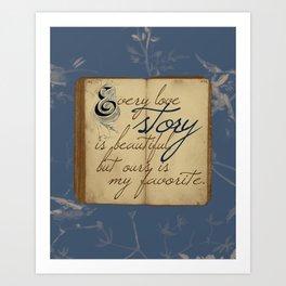 "Fairy Tale Love ""My Favorite"" Art Print"