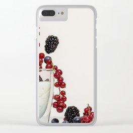 fruits and yogurt Clear iPhone Case