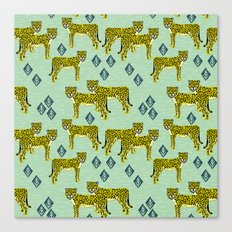 Cheetah safari nursery kids animal nature pattern print gifts Canvas Print