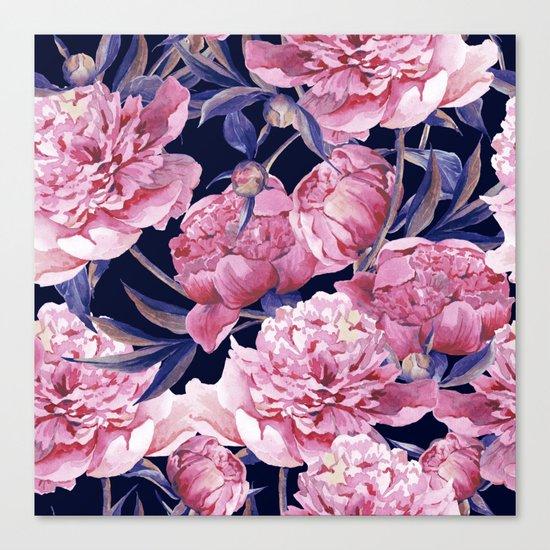 Flower Fashion Print Canvas Print