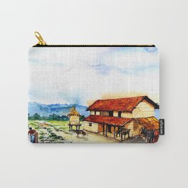 Rural Barn Watercolor Painting Carry-All Pouch