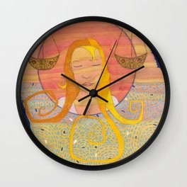 Libra, the Scales Wall Clock