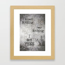 KAZANTZAKIS NIKOS / Famous Tombstone Engraving Framed Art Print