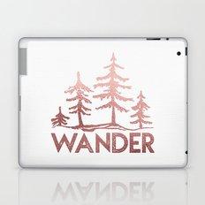 WANDER Adventure Forest Rose Gold Pink Laptop & iPad Skin