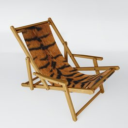 Faux Siberian Tiger Skin Design Sling Chair
