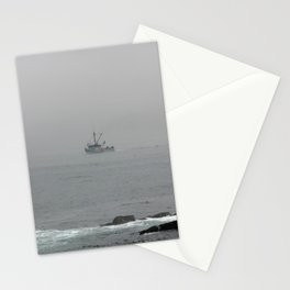 foggy boat Stationery Cards