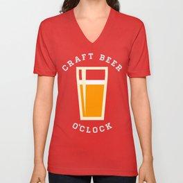 Craft Beer O'Clock Unisex V-Neck