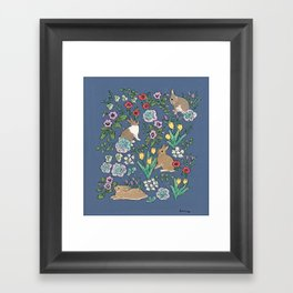 with early spring flowers Framed Art Print