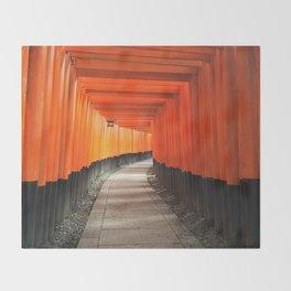 Fushimi Inari Shrine Throw Blanket