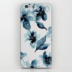 Indigo Flowers iPhone Skin