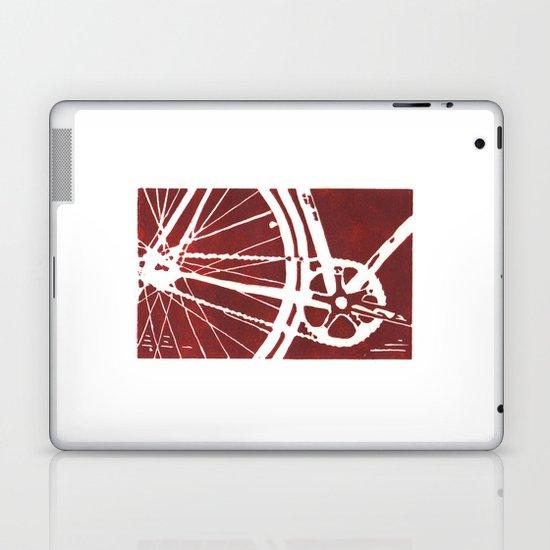 Dark Red Bike Laptop & iPad Skin