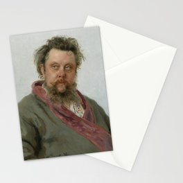 Modest Petrovich Mussorgsky (1839 – 1881) by Ilya Repin in 1881 Stationery Cards