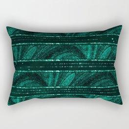 Emerald botanical II Rectangular Pillow