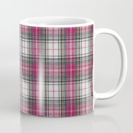 brooklyn red & white - holiday and everyday classic red white plaid check tartan Coffee Mug