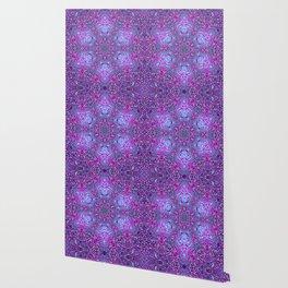 Pink, Purple, and Blue Mandala Wallpaper
