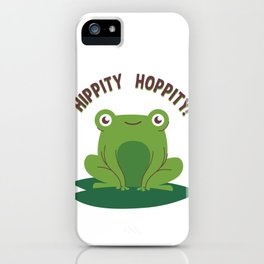 Hippity Hoppity Frog on a Lilly Pad iPhone Case