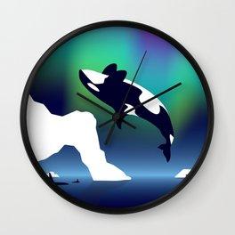 Paper Craft Orca Wall Clock