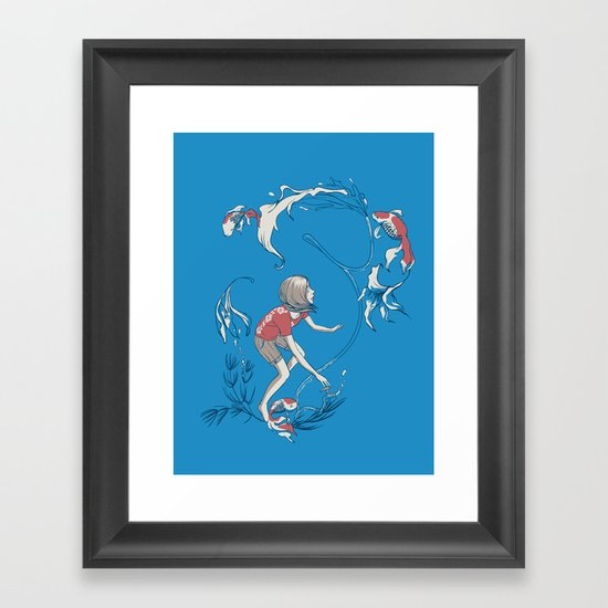 FISH AND WATER Framed Art Print