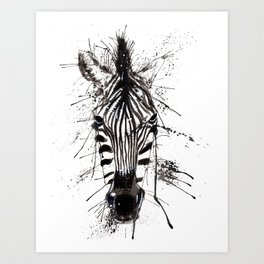 Zebraish Art Print