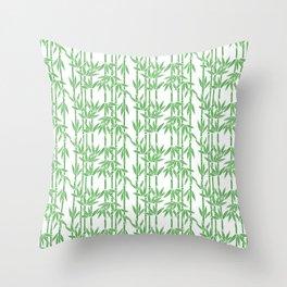Bamboo Rainfall in White/Sullivan Green Throw Pillow