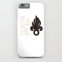 French Legion Song Quote - 2nd REP iPhone Case
