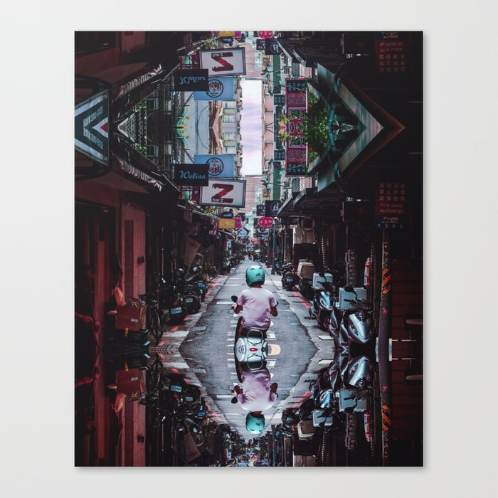 Lin Sen Scooter Remix Canvas Print