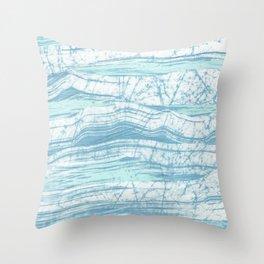 Batik Ocean Throw Pillow
