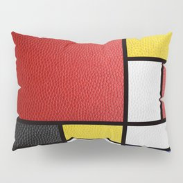 Mondrian in a Leather-Style Pillow Sham