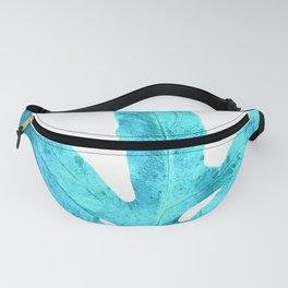 Ocean Blue Fern Fanny Pack