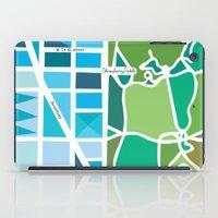 manhattan iPad Cases featuring Manhattan by Jenny Wallmark