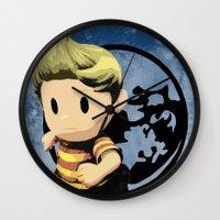 lucas david Wall Clocks featuring Lucas by ScoDeluxe