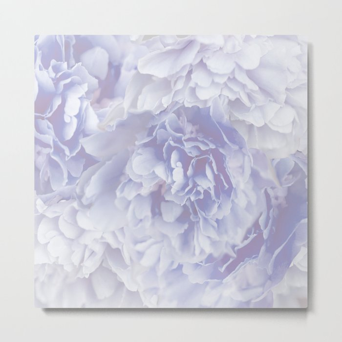 Flower Bouquet In Pastel Blue Color - #society6 #buyart Metal Print