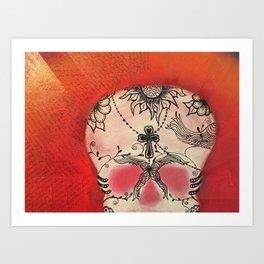 CROSS Dia de los Muertos ~ Day of the Dead Series Art Print