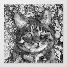 AnimalArtBW_Cat_20170903_by_JAMColorsSpecial Canvas Print
