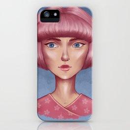 Pink bob iPhone Case