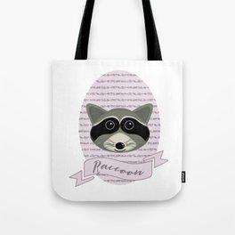 Mevrouw Raccoon Tote Bag