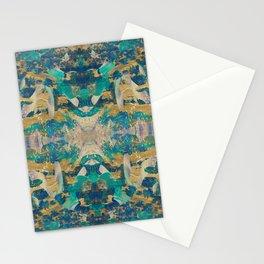 Emerald revolution geometry Stationery Cards