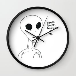 thank you for believing in me Wall Clock