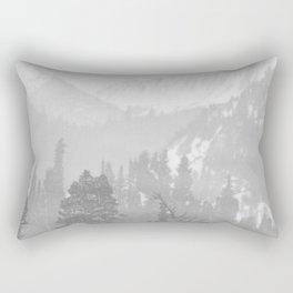 Bear in the mountains Rectangular Pillow