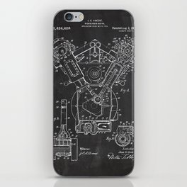 Patent combustion engine iPhone Skin
