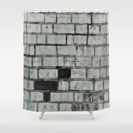 Graffiti Art on a Brick Wall. Original Painting by Jodi Tomer. Abstract Street Art Shower Curtain