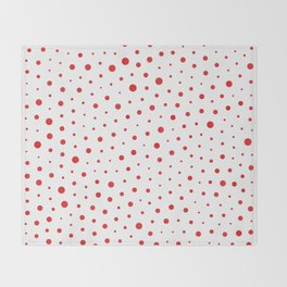 Elegant Modern Polka Dots -Red- Throw Blanket