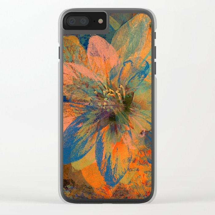 Floral abstract 43 Clear iPhone Case